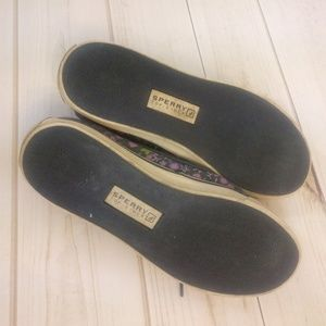 Sperry Shoes - Sperry Top-Sider Floral Navy & Purple Boat Shoes